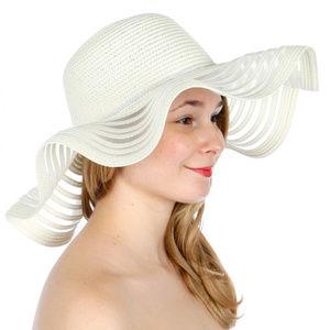 Wave see through line floppy sun hat